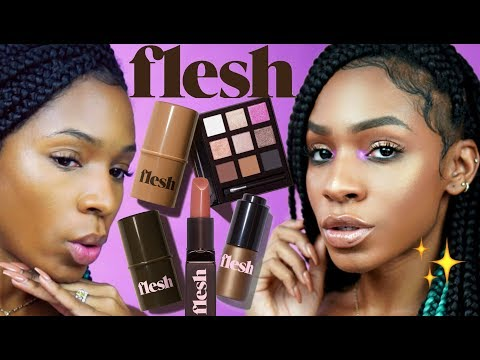 Trying out FLESH BEAUTY! Makeup for People Who Dont Wear Makeup Like That
