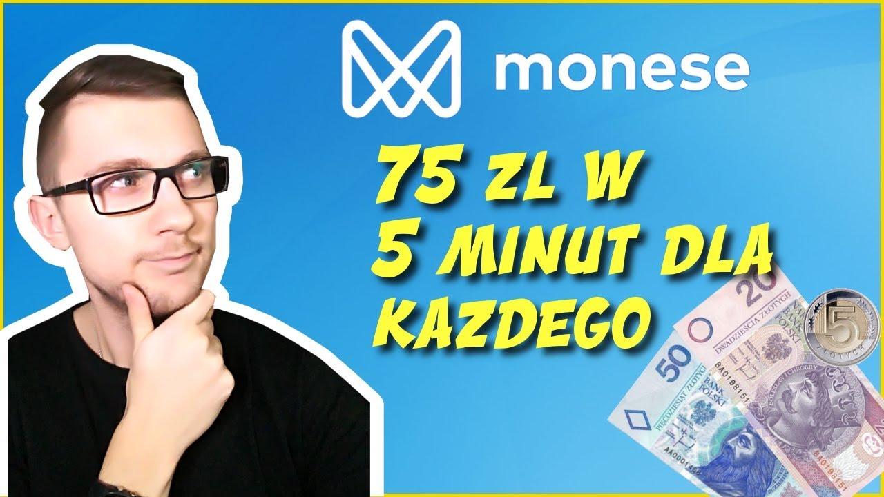 Monese - Darmowe 75 zł - 425 zł bez inwestycji w 5 minut. Zarabianie w internecie