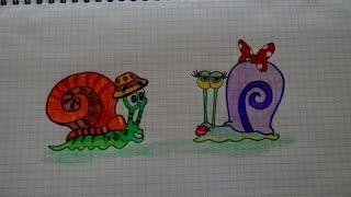 Как нарисовать УЛИТКУ БОБ #104/ How to draw a SNAIL BOB