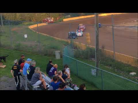 "ANTHONY ""CHOPS"" CHROBAK STAGE 1 MODIFIED HEAT RACE WIN AT HAMLIN SPEEDWAY 8-5-18"