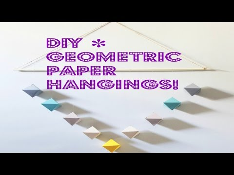 ✽ DIY ✽ Geometric PAPER WALL HANGING