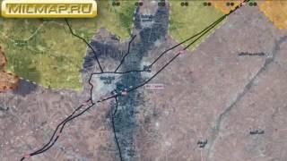 Видео обзор карта боевых действий Сирии и Ираке от 14 12 2016г