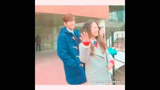 Behind The Scene The Heirs Kang Minhyuk Yoon Chanyoung and Krystal Jung Lee Bona (Hyukstal)