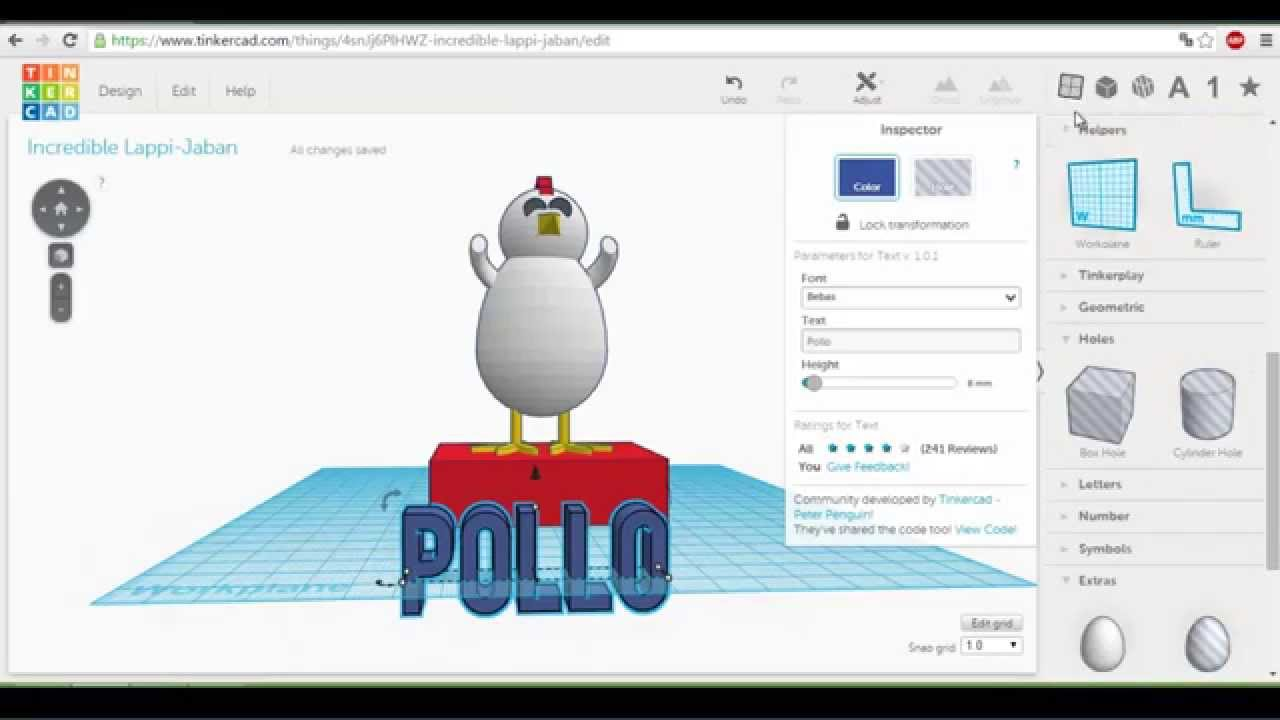 Tinkercad tutorial pollo dise o 3d para impresora 3d Tinkercad 3d