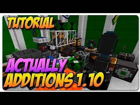 MODS TUTORIALS 1.10+ español | ACTUALLY ADDITIONS
