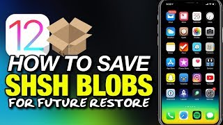 How To Save Ios 12 Shsh Blobs With Tss Saver For Iphone - Ipad - Ipod