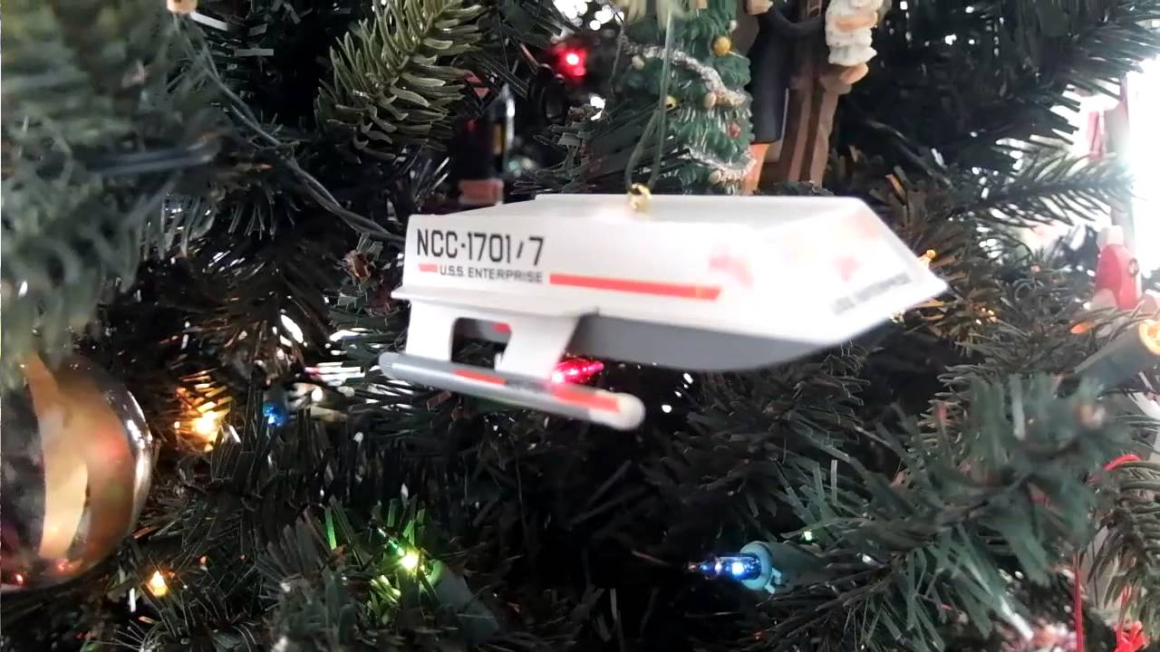 Star Trek Shuttle Christmas Ornament, Featuring Spock! - YouTube