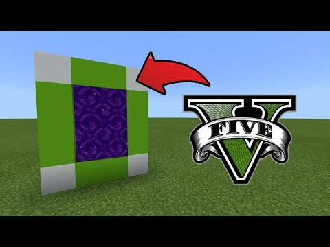 MCPE : How To Make A Portal To The GTA 5 Dimension