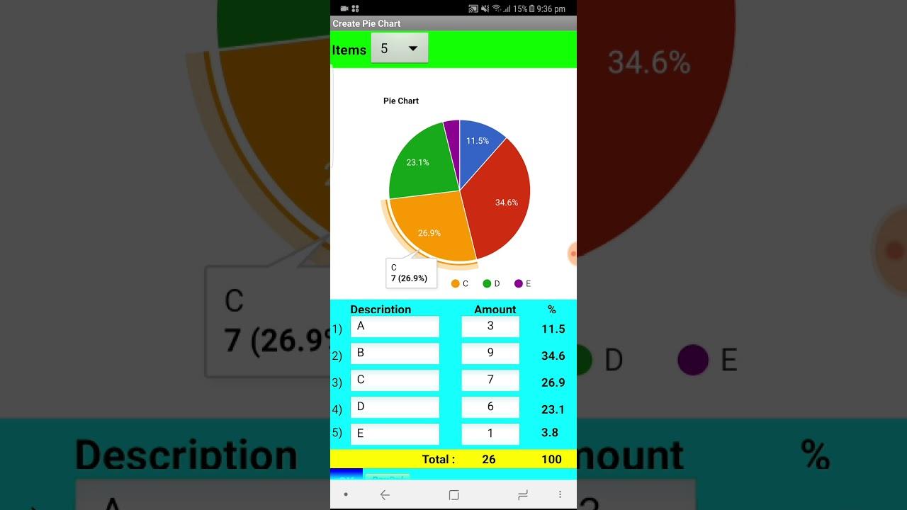 Create Pie Chart App