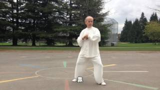 13式太極拳正向慢動作 (2015.03.27) 13 Form Tai Chi Slow moving (Front View)