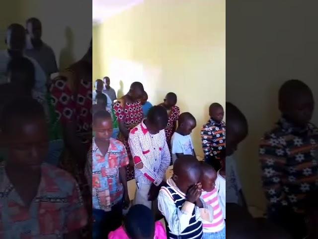 Child Leading Prayer for Children 4 1 2018 WFF Moi's Bridge Kenya