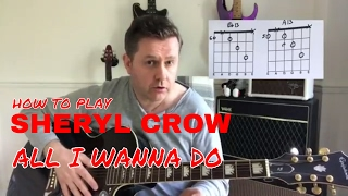 Sheryl Crow All I Wanna Do Acoustic Guitar Lesson Chord Boxes