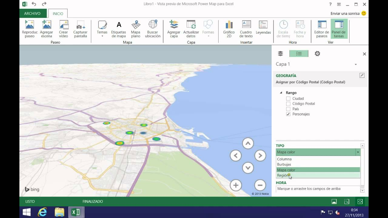 excel 2013 - primeros pasos con power map