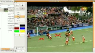 LongoMatch: Video tutorial for the drawing tool (Field Hockey)