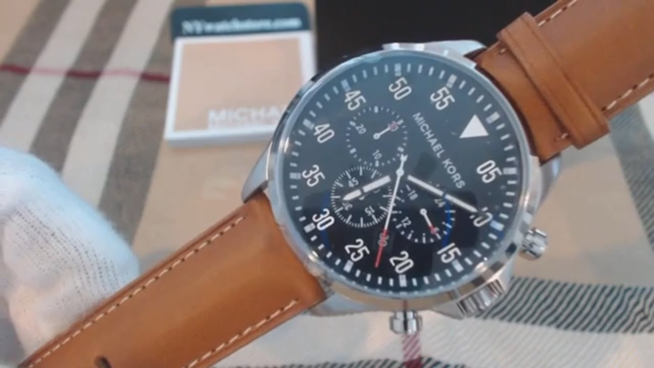 057d010f1983 Men s Michael Kors Gage Chronograph Watch MK8333 - YouTube