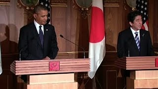 President Obama Holds a Press Conference with Prime Minister Abe of Japan