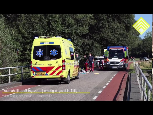 Traumahelikopter ingezet bij Ernstig ongeval in Tilligte