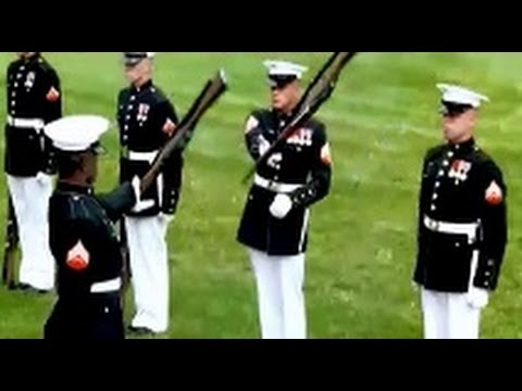 Best Marine Silent Drill Platoon Performance Ever W/ USMC Hymn Apotheosis