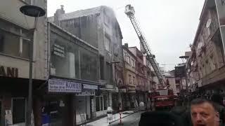 Zonguldak'ta fırında yangın... Ateş her yeri sardı...