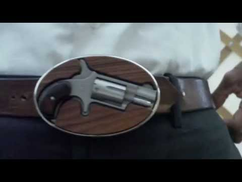 NAA Mini Revolver Belt Buckle With Speed Loader