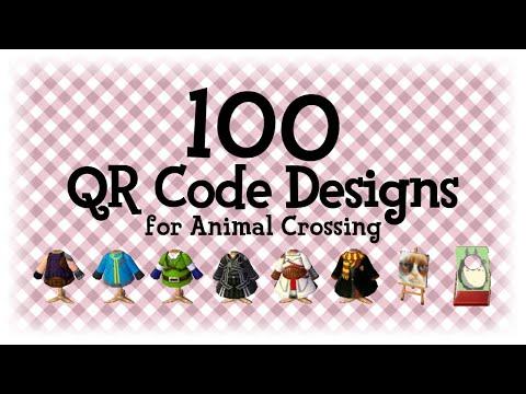 100 Qr Code Designs 1 Animal Crossing New Horizons Acnh Acnl