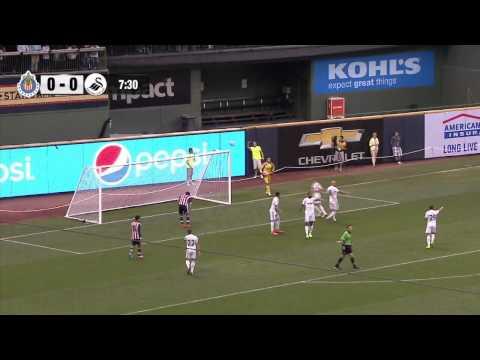 Łukasz Fabiański vs. Chivas - Swansea US Tour - Debut/First match[16.07.2014]
