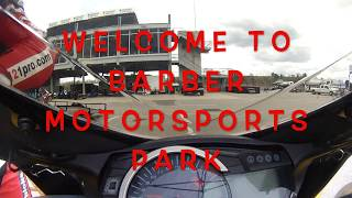 On track motorcycle video Barber Motorsport Park - learning a new circuit