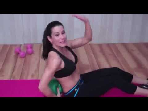 1 Min Abs Workout Ab Crunches On The Ball Proform Recumbent Bike
