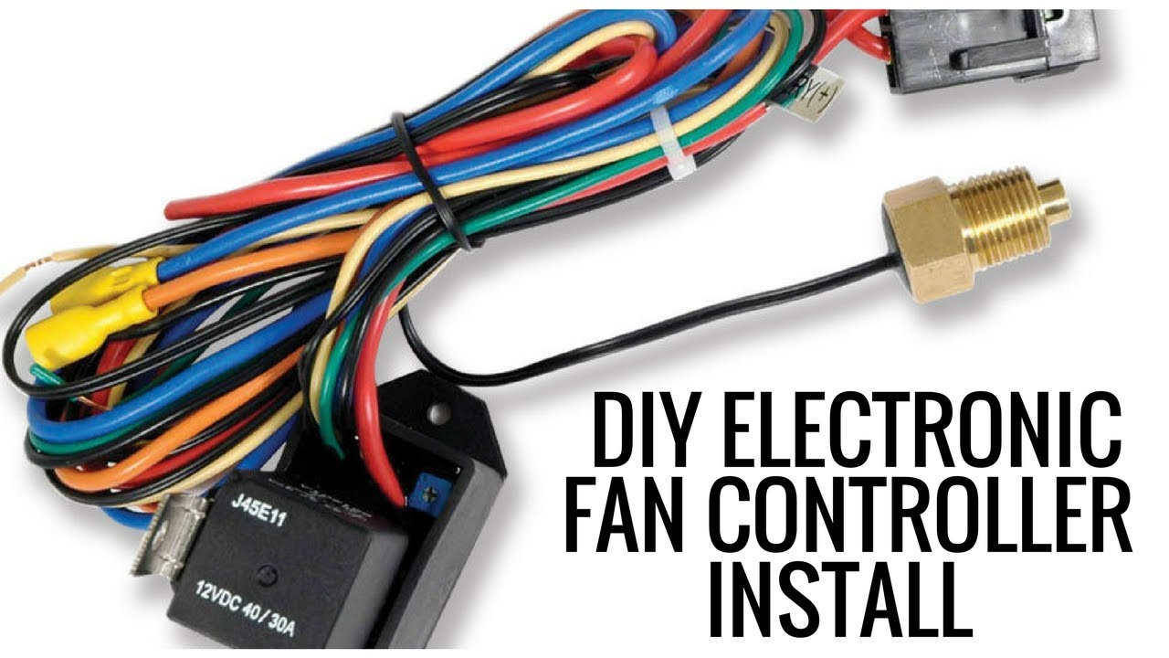 How to Install an Electronic Fan Controller - YouTube