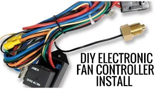How to Install an Electronic Fan Controller - YouTube | Adjustable Radiator Fan Control Wiring Diagram |  | YouTube
