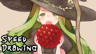 Kawaii witch SPEED DRAWING in Photoshop CC by Japanese illustrator Utako