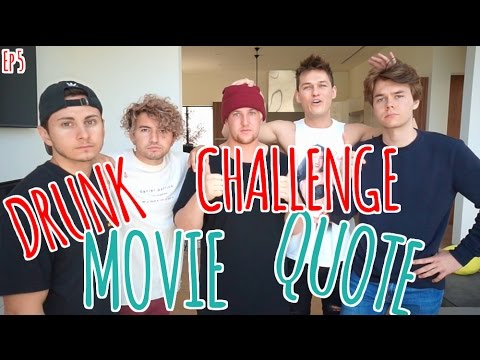 Drunk Movie Quote Challenge 5 w/ Jc Caylen, Harrison Webb, DavidAlvareeezy, & Corey La Barrie