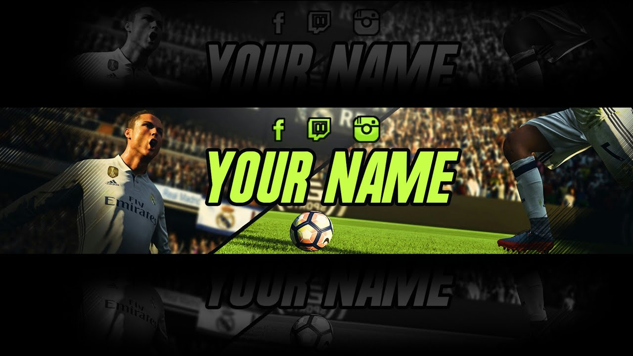 Youtube Banner Template | Fifa 18 Youtube Banner Template | Youtube ...