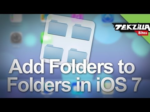how to make a folder that contains folders ios 9