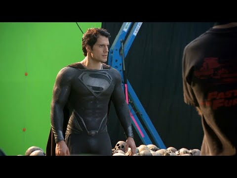 Superman Appear In Black Suit Video Goes On Set With Henry Cavill ! DC