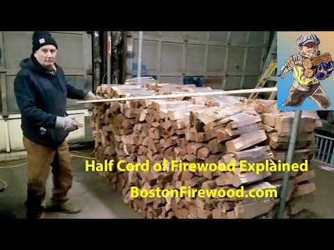 Boston half cord wood kiln dried firewood for sale video Hyde Park Ma delivered