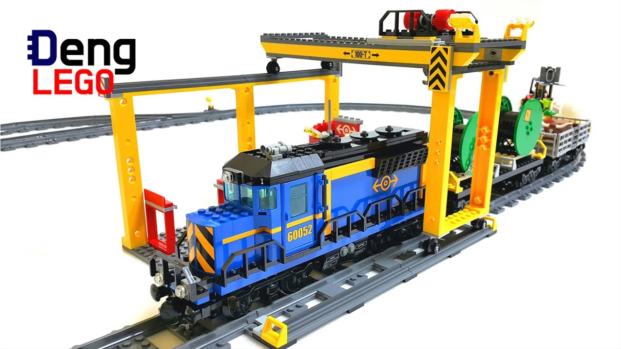 Lego City 60052 Cargo Train Lego Speed Build Youtube