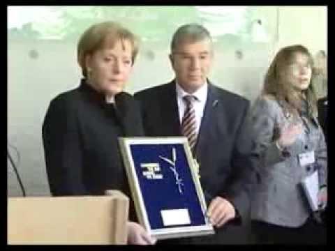 German Chancellor  Angela Merkel at Yad Vashem, 2008