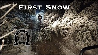 First SNOW at the Ranch.  Prepping for Winter