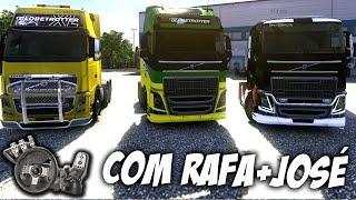 Euro Truck Simulator 2 - Multiplayer - Comboio com Rafão e José - Muita risada! - Com Logitech G27