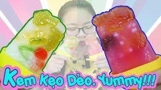 YUMMY! LÀM KEM KẸO DẺO TRÁI CÂY ĐƠN GIẢN - AI CŨNG LÀM ĐƯỢC - Ice Cream Gummy Mashmallow