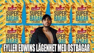 FYLLER EDWINS LÄGENHET MED 450 KG OSTBÅGAR.