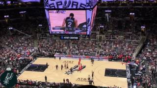 Spurs Christmas Day Pre-game Intro & Game Tip Off 2016 (12-25-16)