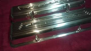Finished product polished valve covers from Darrell's Polishing