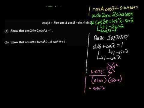 C3 Trigonometric Identities (Part4 Common Exam Question #2,#3)