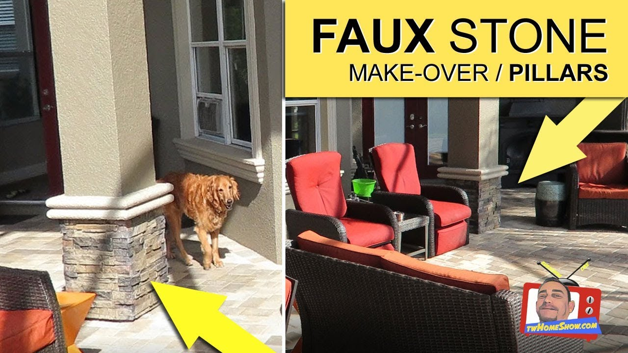 RICH LOOK: Add FAUX STONE Panels To Pillars U0026 Columns. EXCELLENT Results!