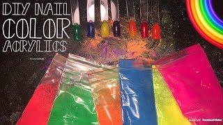 DIY Nail Color Acrylic |Neon Nail Powder
