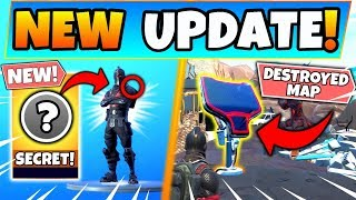 *NEW* SECRET SKIN UPDATE & RIFT BEACONS DESTROYING MAP!? (Fortnite Season 10)