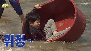 [아빠! 어디가?] 바다에서 물놀이하는 아빠와 아이들,…