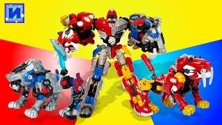Трансформеры. Биклонз Мега Зверь Cross Attacker. Два зверя трансформируются в робота.
